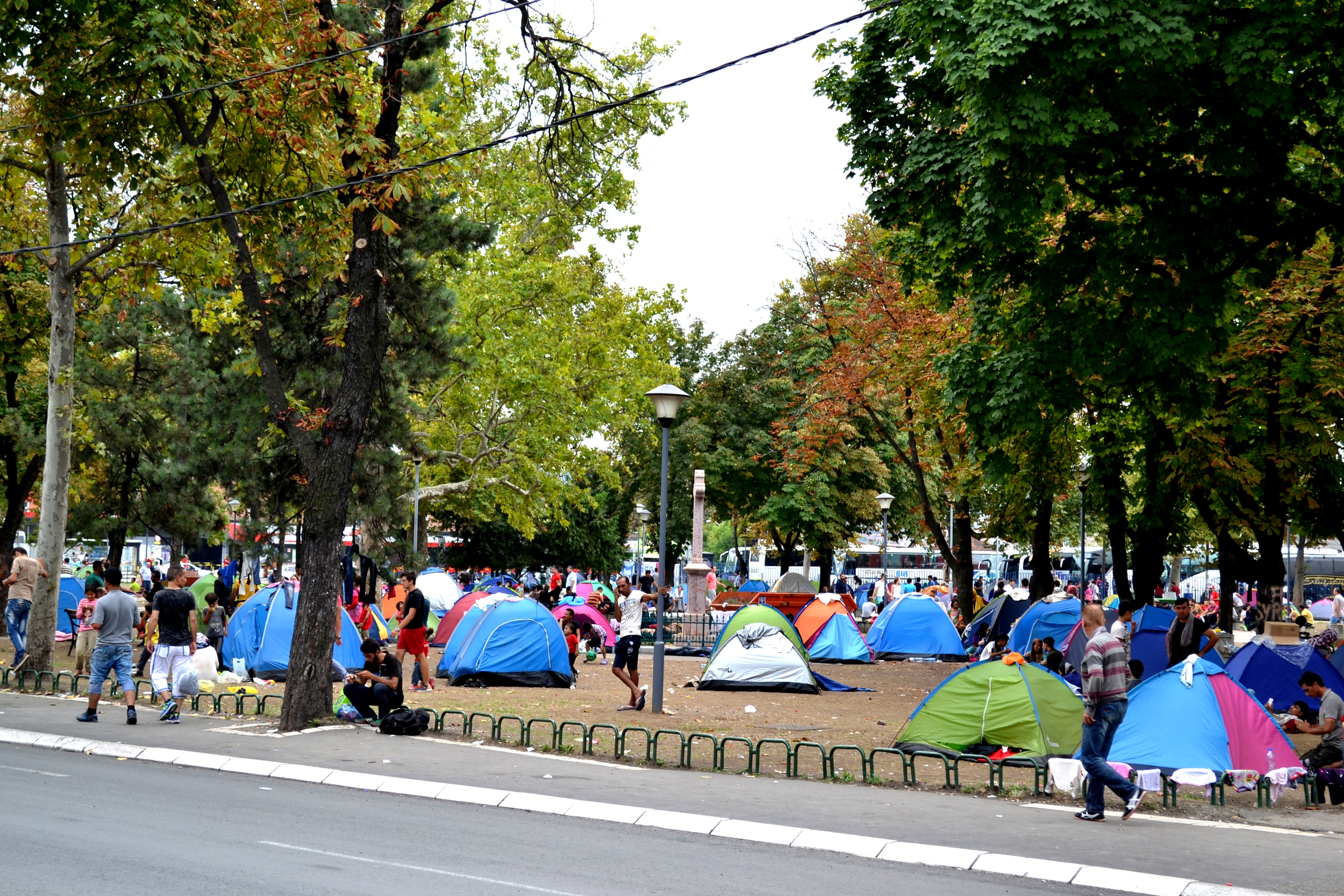 A refugee camp in Belgrade