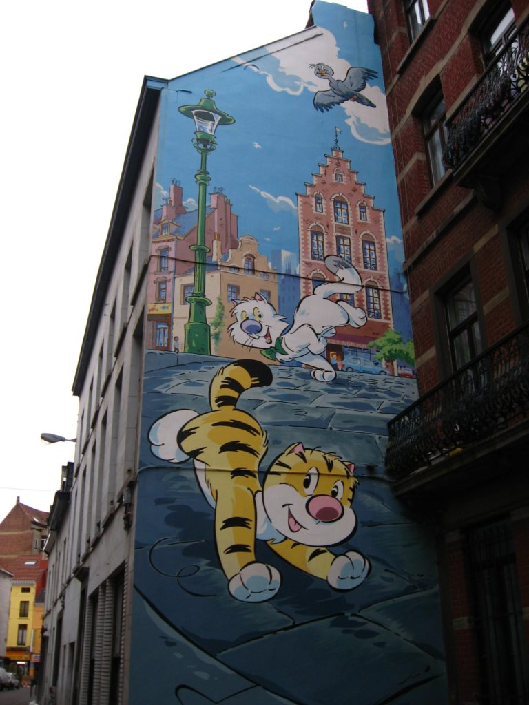 Brussels is a city of comic strip walls