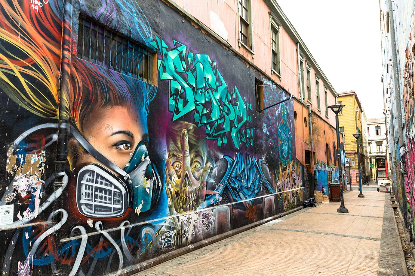 Valparaiso is a city of graffiti and murals