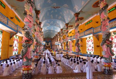 Inside Cao Day Temple, Tay Ninh