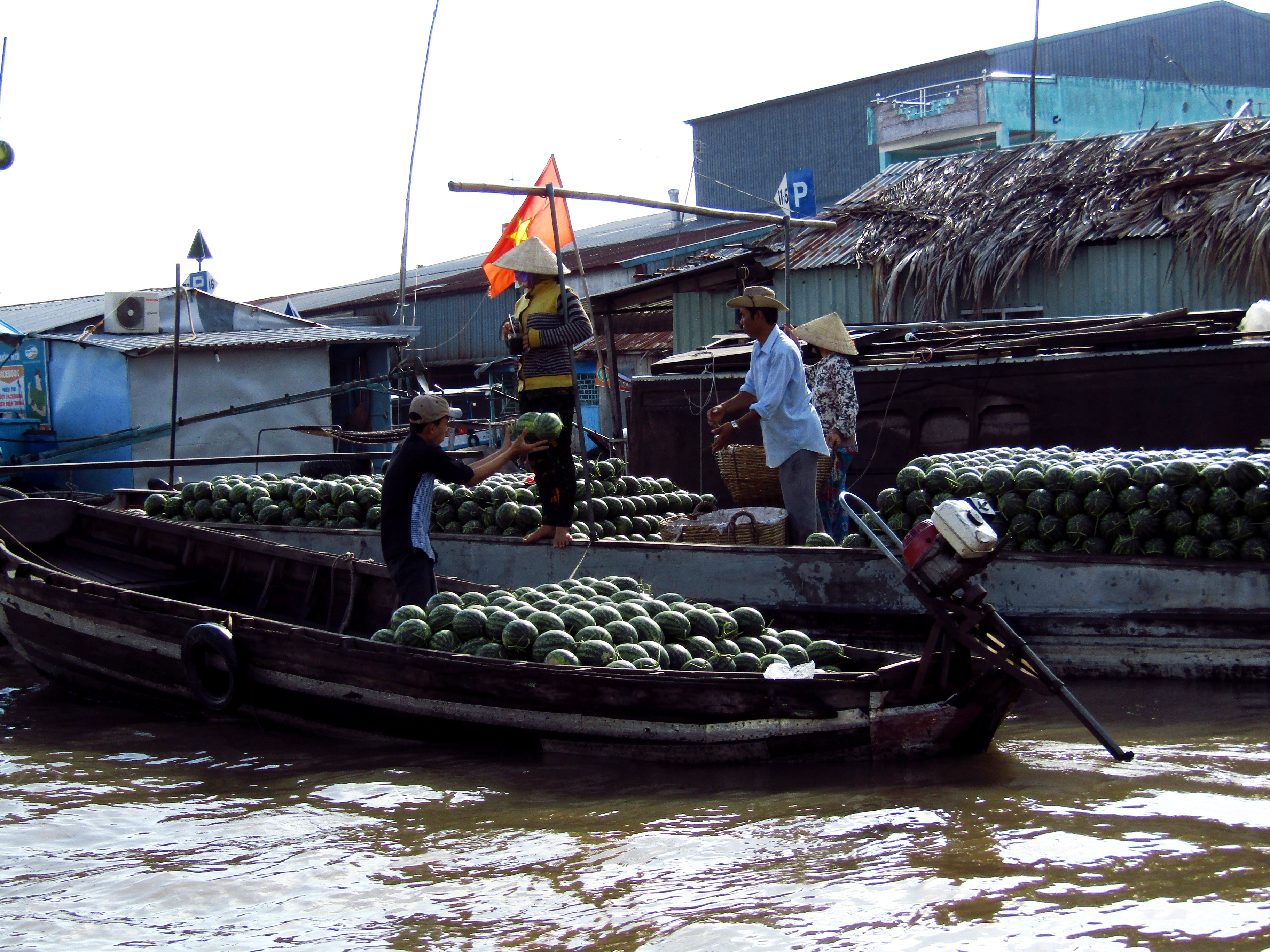 The famous floating markets on the Mekong River