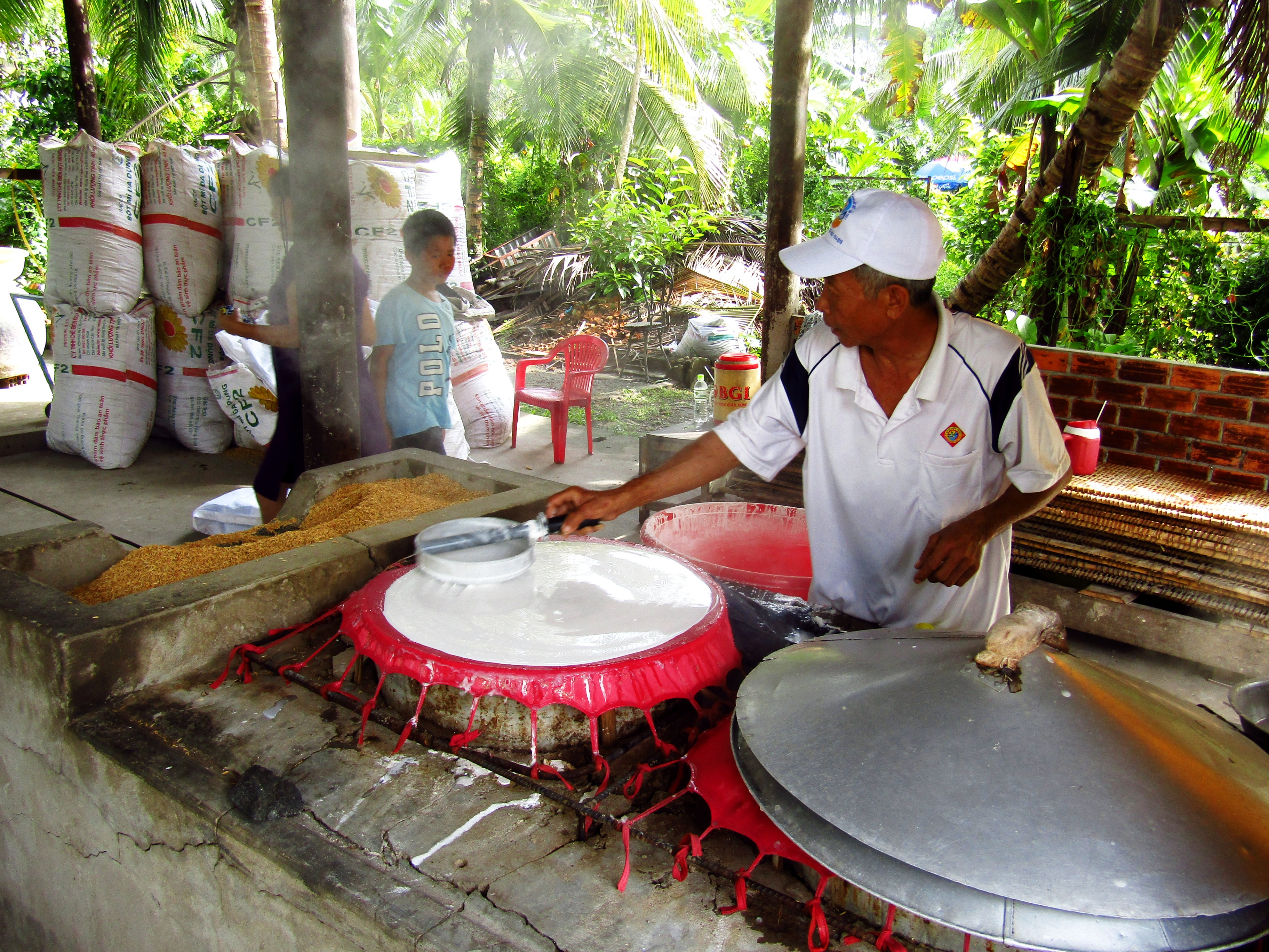 Rice paper production