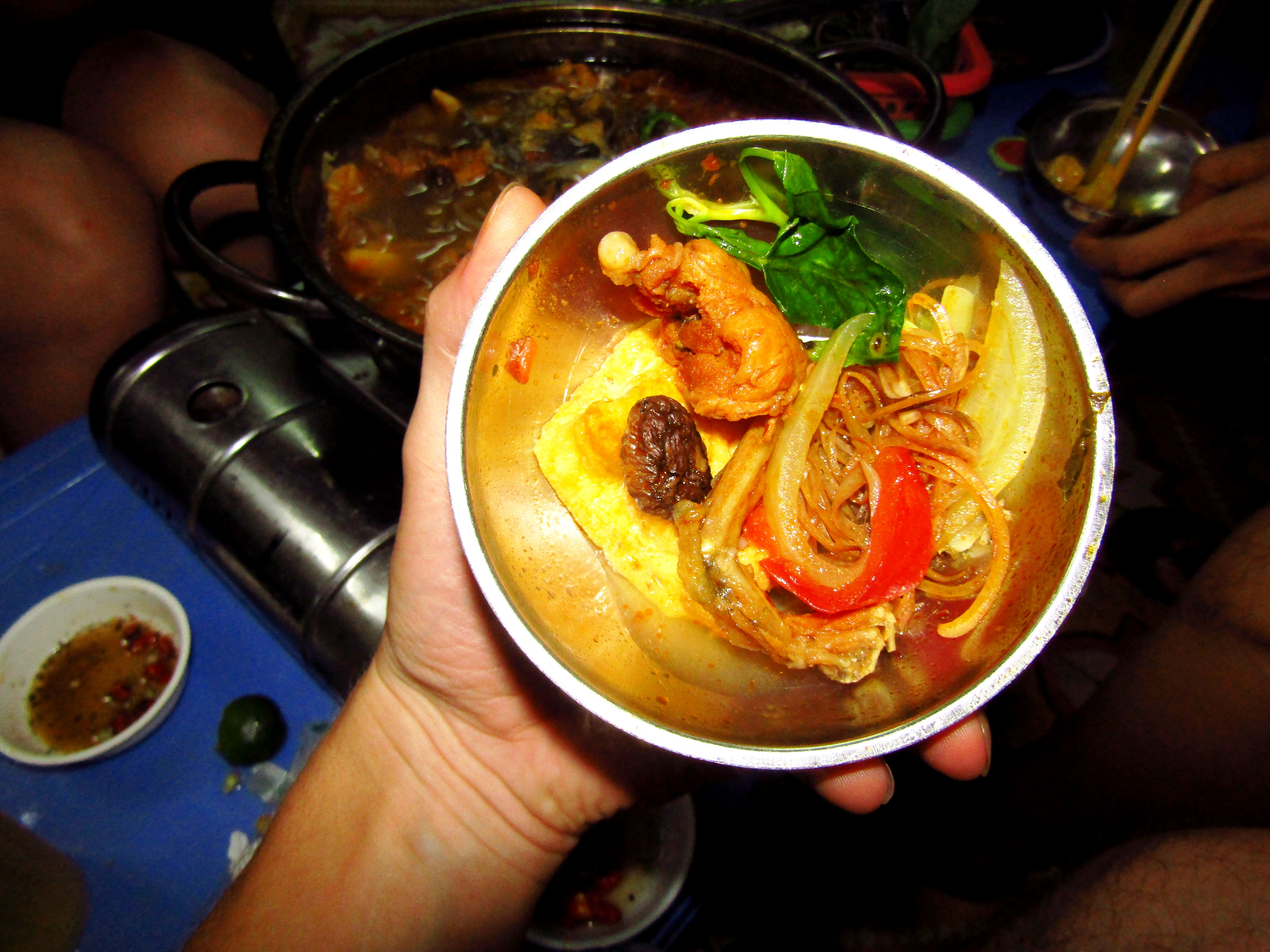 Frog hot pot - can you make out the frog?