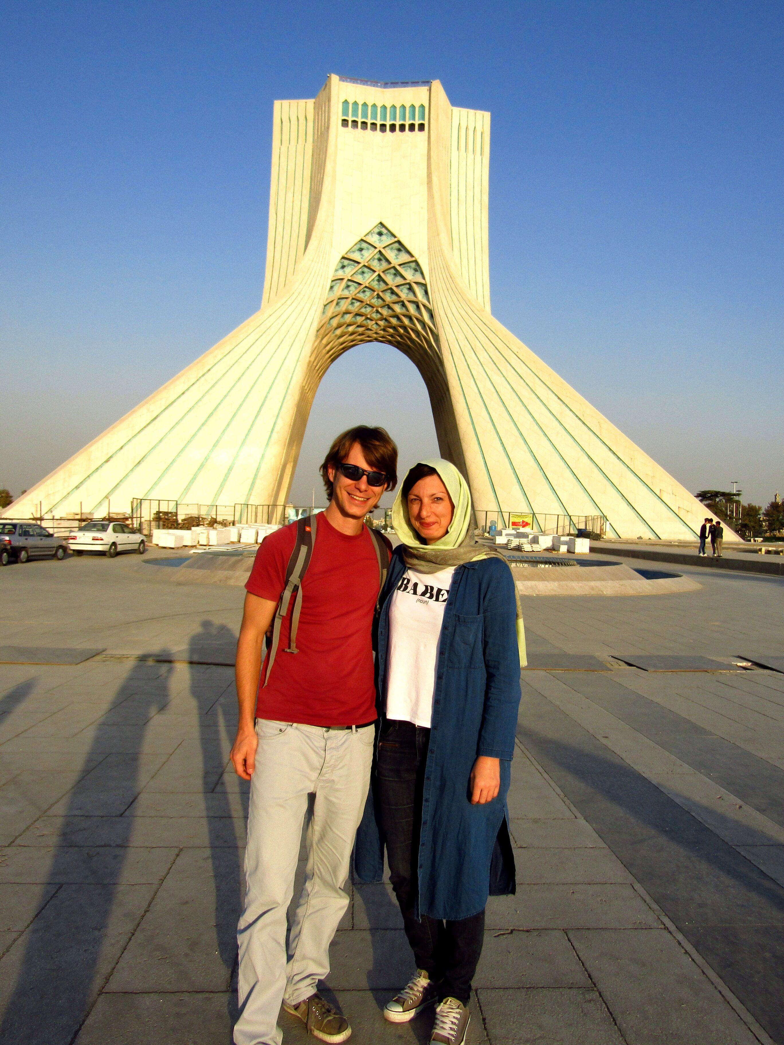 At Azadi Tower, a symbol of Tehran