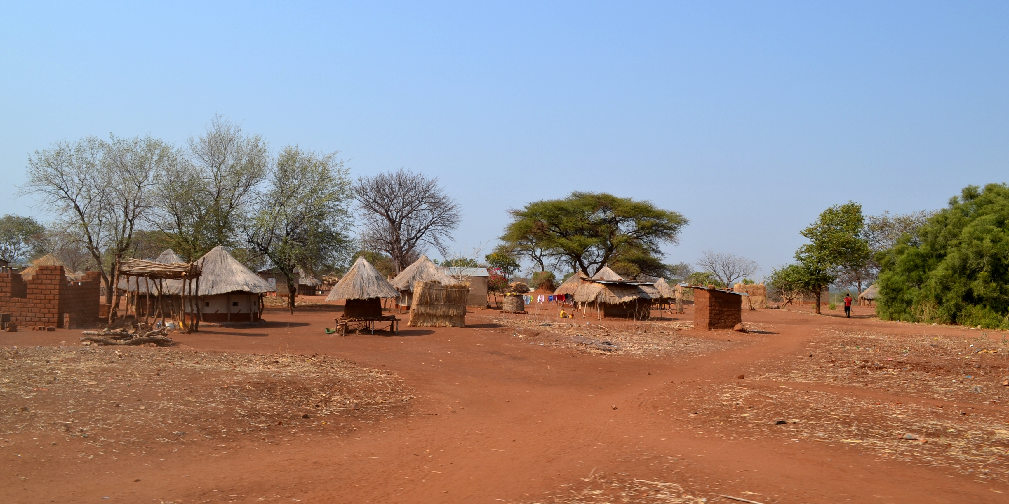 One of many remote villages we passed on our way back to Lusaka