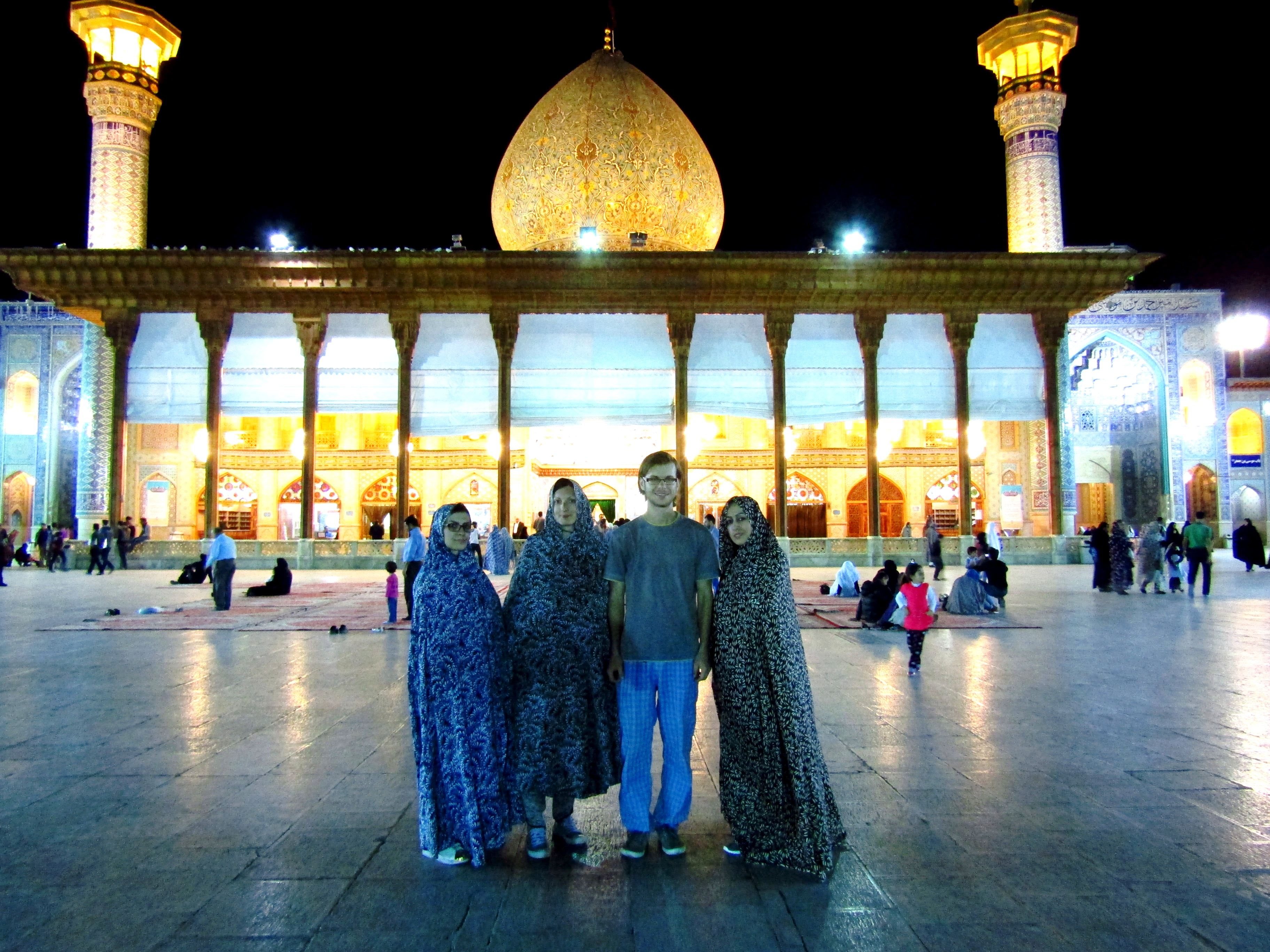 Visiting Shah Cheragh with Shiva and Mostafa's sister [in Shiraz]