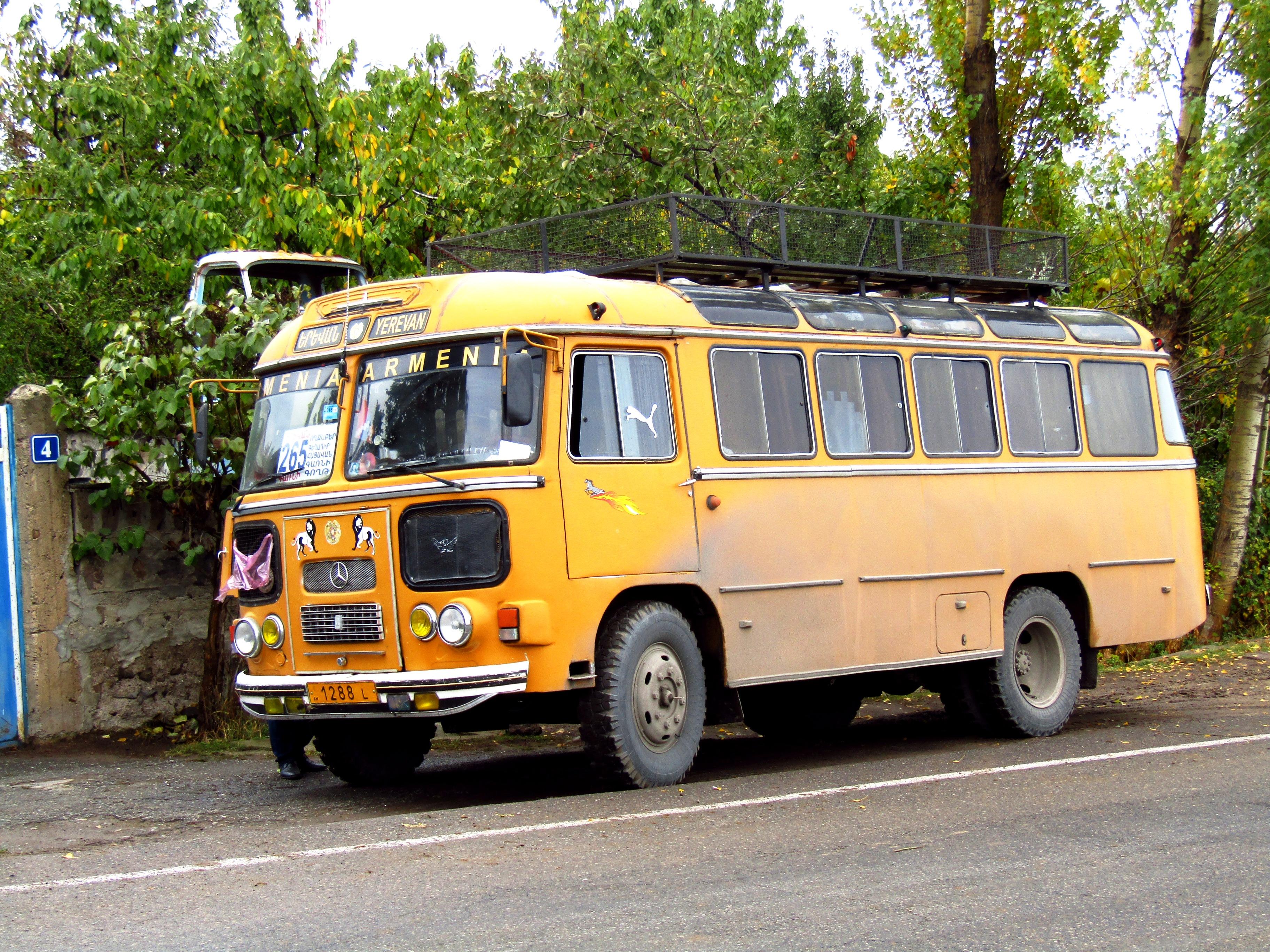 A cute little bus that took me to Geghard