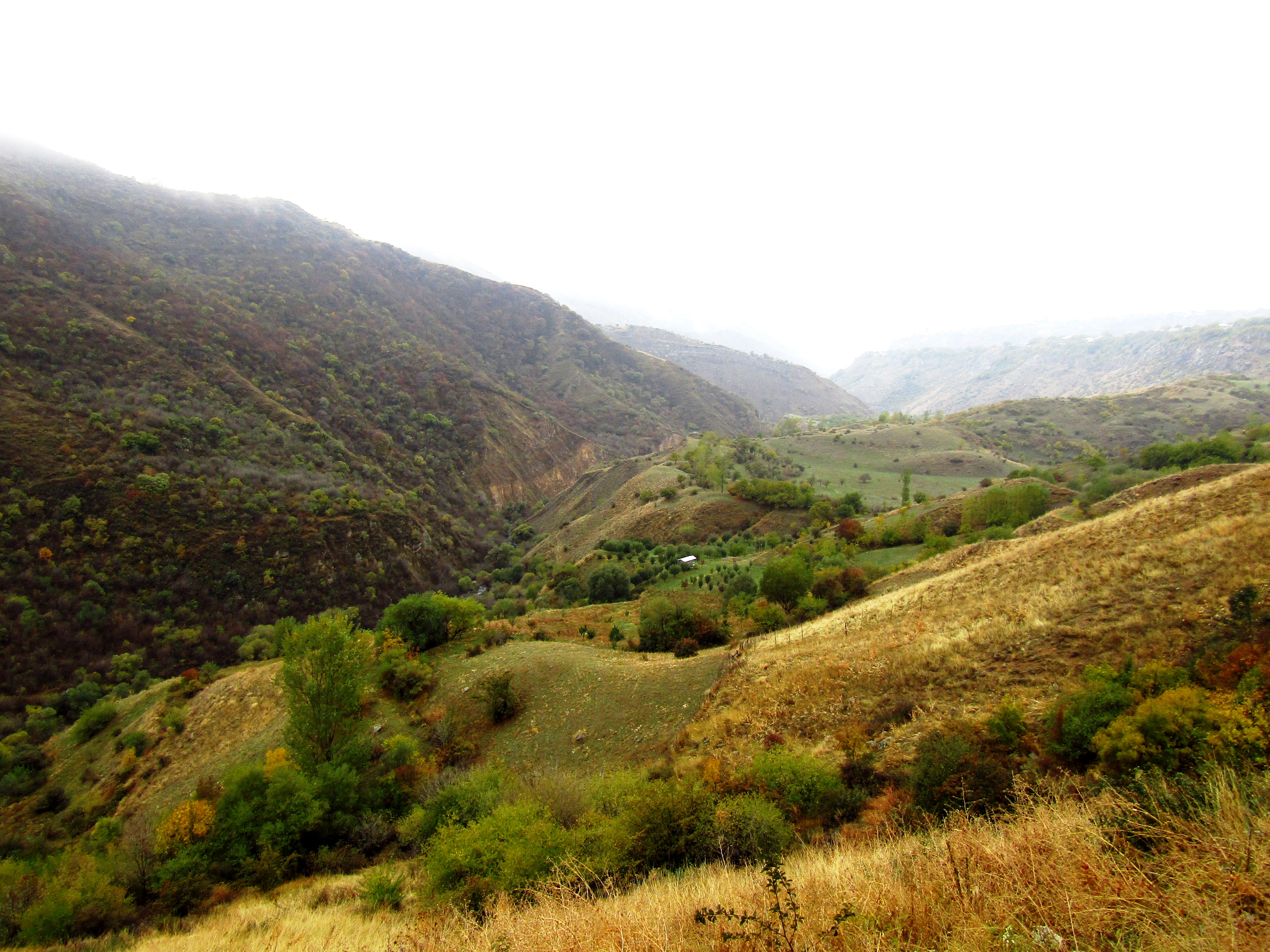 The landscape on the way to Geghard Monastery