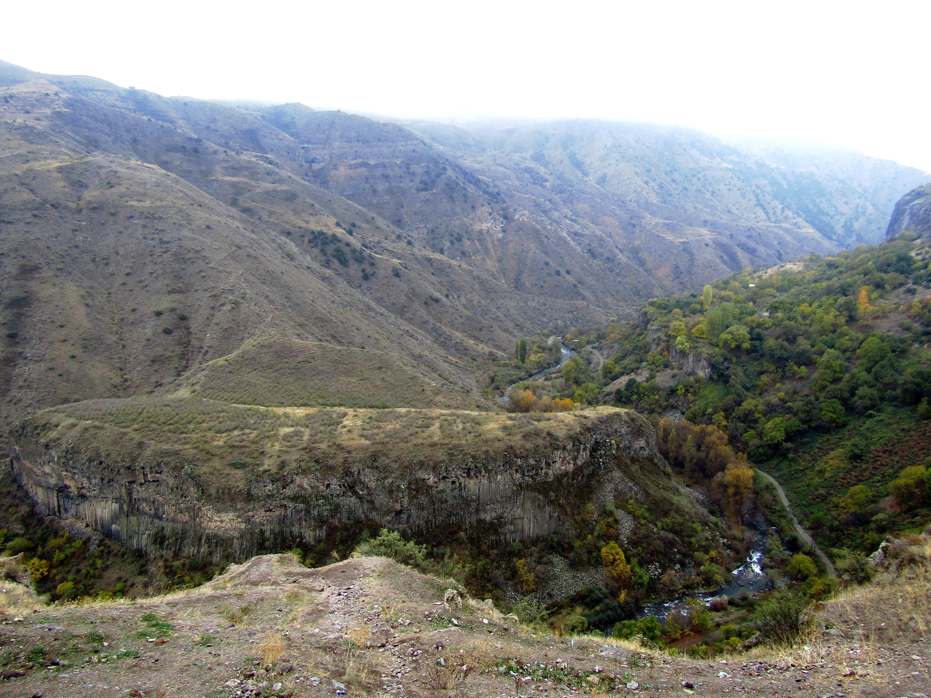 The landscape around Garni Temple